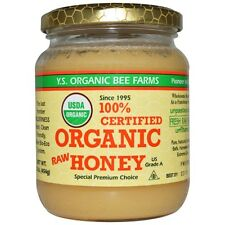 Natural Organic Honey 100% Certified 16 oz Pure Raw Honey Ys Eco Bee Farms
