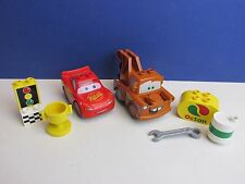 lego DUPLO disney CARS MATER & LIGHTNING McQUEEN FIGURE set lot p70