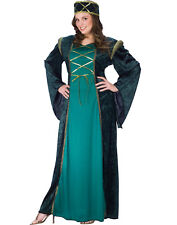 Womens Sexy Steampunk Medieval Renaissance Lady In Waiting Plus Sized Costume