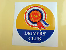 BMC ROSETTE DRIVERS CLUB CIRCULAR Classic Retro Decal Sticker 1 off 75mm