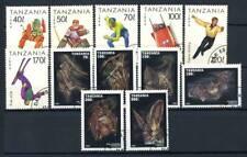Tanzania 1994-95 Mi. 1705-1711 2086 Usato 100% Giochi Olympici Pipistrelli