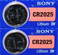 2 Piles Bouton 3V SONY CR2025 LITHIUM Centralisation Carte Renault Mercedes