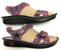 Alegria Vienna Wowie Zowie Sandals Size 38 US 8 Pink Leather Ankle Strap.