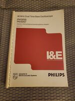 Phillips PM3055 PM3057  60 MHz Dual Time Base Oscilloscope OPERATION MANUAL