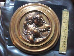copper bas relief plaque by EW Wyon  1848 27 cm T Lawrence Calmady children