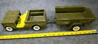 VINTAGE STRUCTO ARMY SCOUT & TRAILER PRESSED STEEL RARE!