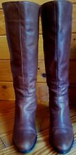 KD KELSI DAGGER Womens Brown Leather & Stretch Knee High Riding Boot Style Sz 7