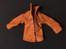 """Tan brown jacket faux suede metal studs long sleeves fit 10"""" 11"""" fashion doll"""