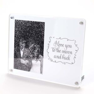 """I Love You to The Moon & Back Freestanding Photo Frame - 6 x 4"""" - Acrylic"""