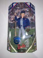 "Vintage Chicago Cubs 1999 Barbie Doll MLB NEW  #23883 Real Wooden Bat 12"" NIB"