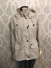 PACIFIC TRAIL Women's Anorak Jacket S Small Parka Leather Trim Fleece Lined Hood