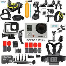 GOPRO Héros 3 white Edition SPORTS Caméra Caméscope+8GB+40Pcs Accessoires Kit