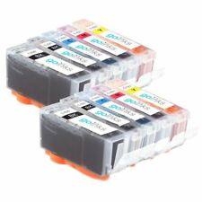 10 Ink Cartridges (Set) to replace Canon PGI-520 & CLI-521 Compatible for PIXMA