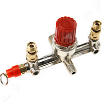 Tube Alloy Air Compressor Switch Pressure Regulator Valve Fit Part Double Outlet