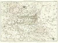 AISNE MARNE. Environs de Laon Soissons Reims 1859 old antique map plan chart
