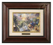 Thomas Kinkade Beauty and the Beast 5 x 7 Framed Brushwork (Burl Frame)