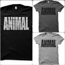 T-Shirt Maglietta Animal Animale GYM Palestra Bodybuilding Pesi Vintage Uomo DK