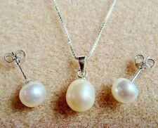 Pearl Sterling Silver Fine Jewellery Sets