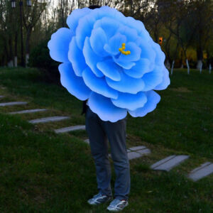 3D Flower Design Silk Peony Floral Parasol Bamboo Umbrellas Cosplay Party Show