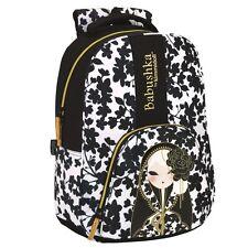Babushka by Kimmidoll Official PREMIUM Backpack Rucksack Travel School Bag Black