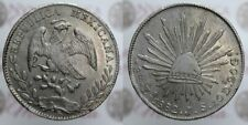 8 REALES 1882 JS MESSICO SILVER ARGENTO