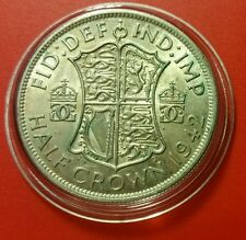 1942 XF HALF CROWN GEORGE VI BRITISH SILVER COIN PROTECTIVE CAPSULE