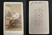 Carjat, Paris, Gustave Courbet, peintre Vintage carte de visite, CDV. Gustave