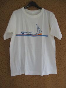 Tee Shirt Cagne sur Mer Vintage Shirt 80'S Blanc Cote d'azur 100 % coton - L