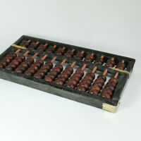 Vintage Chinese Abacus 11 Bamboo Rods And 77 Hardwood Beads May Be Lotus Flower?