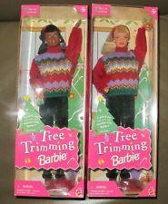 2 Tree Trimming Barbie Dolls
