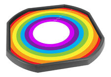 Tuff Tray Vinyl Mat Insert - Colours Of the Rainbow - Black Tray not included