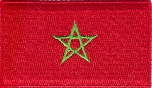 Morocco Flag Small Iron On / Sew On Patch Badge 6 x 3.5cm Kingdom of Morocco