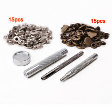 30pcs 15mm metal push button + fix tool for leather handbags