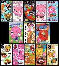 MOSHI MONSTERS  ~ BIRTHDAY CARD ~ GREAT GRAPHICS INSIDE AND OUT -  ONLY 99p EACH