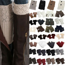 Women Boot Toppers Cuffs Ladies Leg Wellies Knitted Winter Socks Slouchy Warm UK