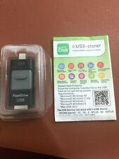 128GB NEW USB i-FLASH DRIVE MEMORY STICK OTG FOR iPHONE iPAD iOS LAPTOP BLACK