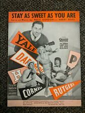1934 Sheet Music Stay As Sweet As You Are from College Rhythm Yale Rutgers +