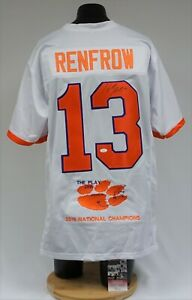 Hunter Renfrow Signed Clemson Tigers Natl Champs The Play Jersey JSA CC82071