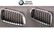 NEW BMW E46 323i 325i 325xi Pair Set of Front Left and Right Grilles Genuine