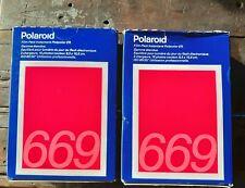 Polaroid 669 Instant Color Print Fim 4 Packs (2 Boxes) Sealed Exp: 1/91 32