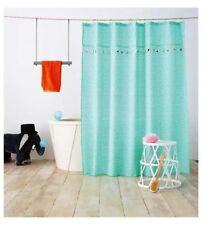 Pillowfort Tassel Shower Curtain Flowers Turquoise Green - 72x72
