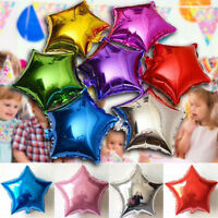 10Pcs Five-pointed Star Foil Helium Balloons Wedding Birthday Party Decoration