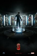 "Marvel IRON-MAN 3 2013 Advance Teaser DS 2 Sided 27x40"" Movie Poster R Downey Jr"