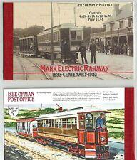 ISOLA  MAN 1993 CARNET BOOKLET CENTENARIO TRAM ELETTRICI ELECTRIC RAILWAY MNH **