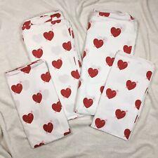 H&M Bettwäsche 1,35 x 2m Bettbezug + 80 x 80cm Kopfkissen weiß rote Herzen