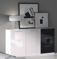 White Contemporary Trolleys with Drawers