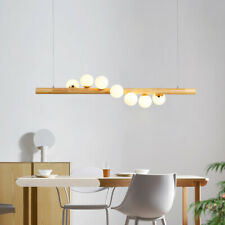 Modern Decor Linear Ceiling Light Glass Globe Kitchen Island LED Pendant Light
