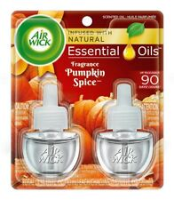 2x Air Wick Plugin Scented Oil Air Freshener Twin-Pack Refills ~ Pumpkin Spice!