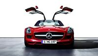 Mercedes Benz SLS AMG Car Auto Art Silk Wall Poster Print 24x36""