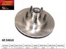 Disc Brake Rotor-4-Wheel ABS Front Best Brake GP54019